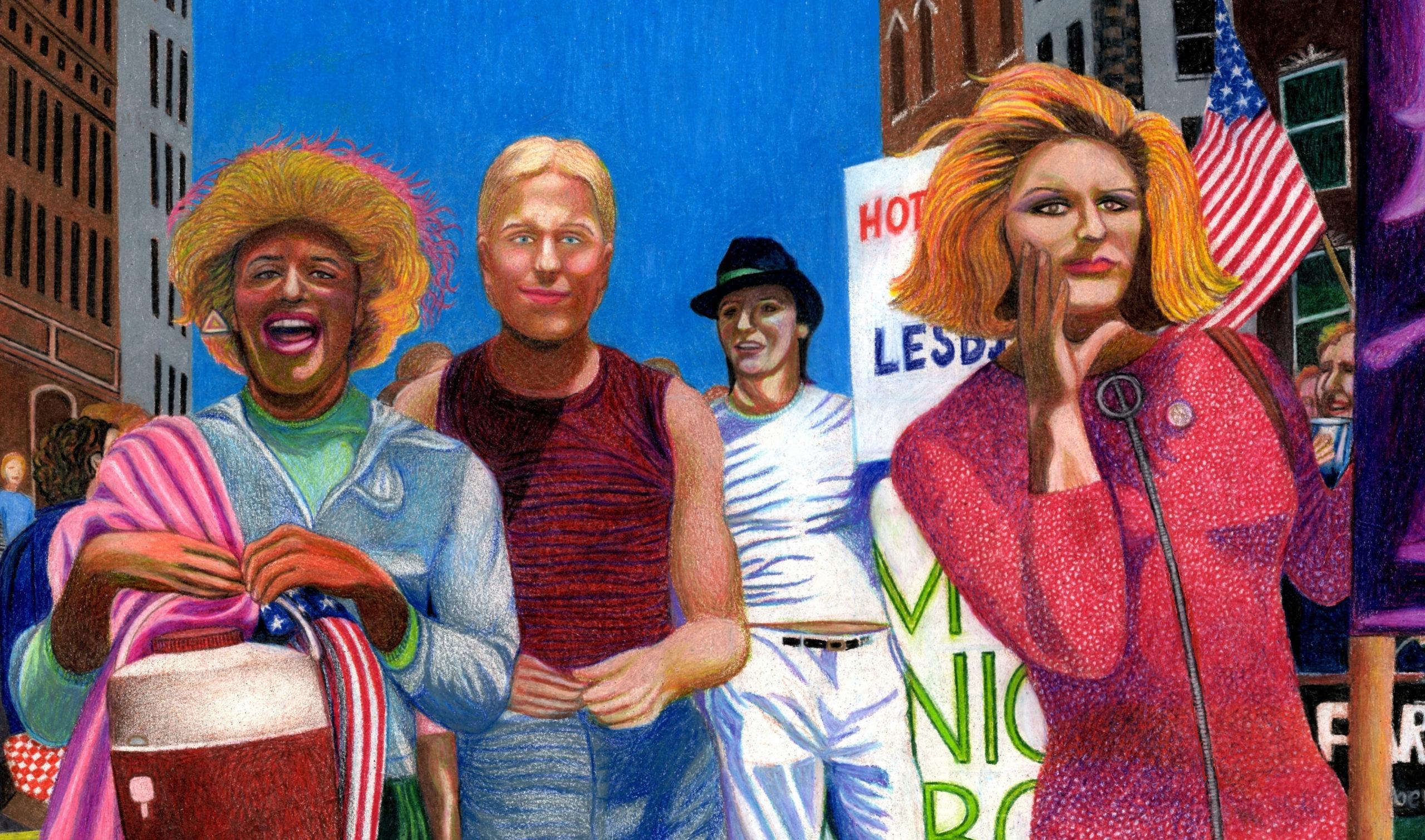 Marsha P. Johnson og Syvlia Rivera afbilledet på maleri