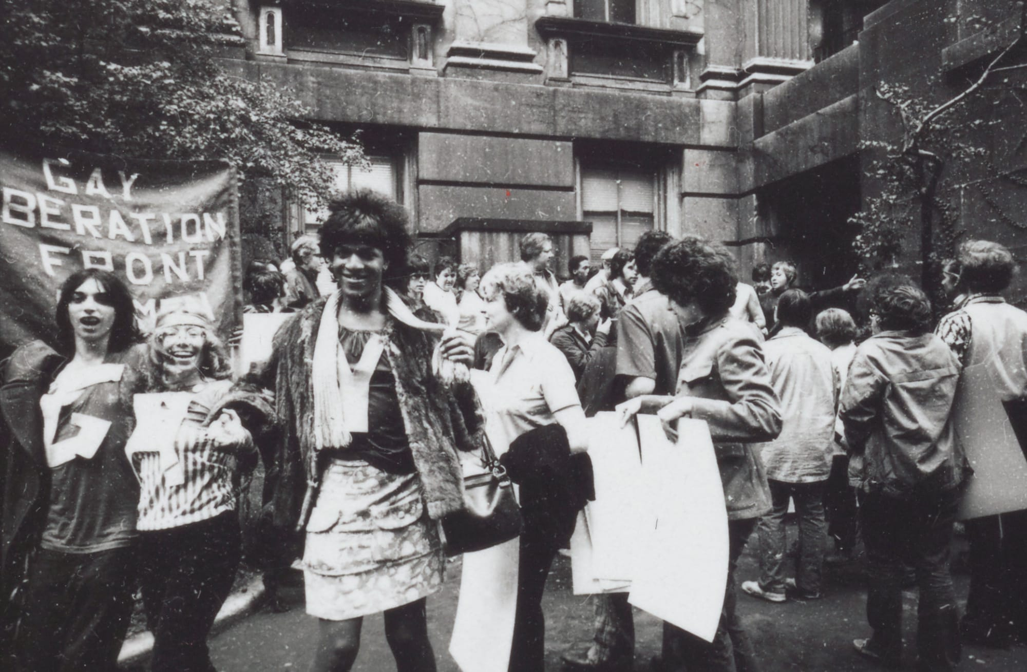 Marsha P. Johnson ved Gay Liberation Front Demonstration.
